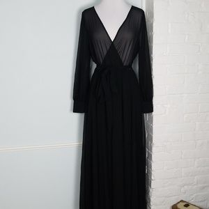 XTaren sheer wrap maxi dress